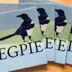 yegpie stickers, Edmonton magpie flag, dustin bajer