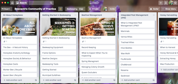 Online Beekeeping Community of Practice using Trello