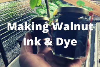 How to make walnut ink and dye
